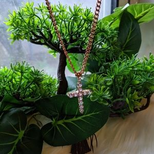 Rose Gold Plated Religious Cross
